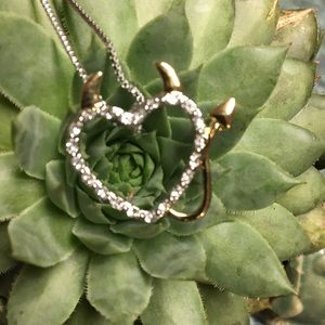 Jewelry - Adorable Devil Heart Rhinestone Necklace